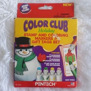 Pentech Color Club Holiday Stamp Gift Tag Set